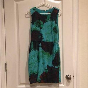Jcrew Factory Green Floral Dress Women's Size 10
